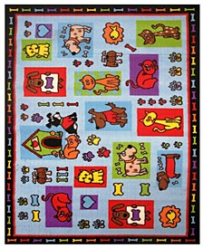 "Fun Time Pets R US 19"" x 29"" Area Rug"