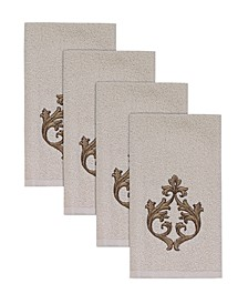 Monaco Hemmed Fingertips Towel, 4 Piece Set