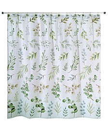 Ombre Leaves Shower Curtain