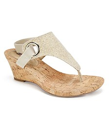 Aida Cork Women's Wedge Sandals