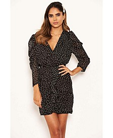 Women's Chiffon Polka Dot Dress