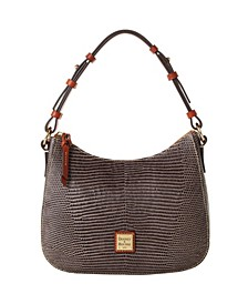 Small Kiley Lizard Embossed Leather Hobo
