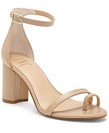 INC Women's Wanada Toe-Ring Block-Heel Sandals, Created for Macy's