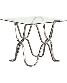 Hobbs Glass Top End Table