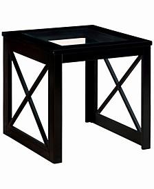 Pyxel Glass Top End Table