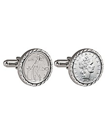Italian 50 Lire Coin Cufflinks