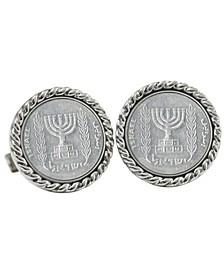 Israel Menorah Coin Cuff Links