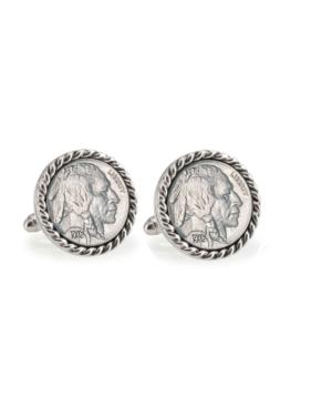 Buffalo Nickel Rope Bezel Coin Cuff Links