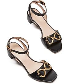 Lagoon Heart Chain Sandals