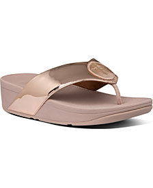 FitFlop Demelza Logo Toe-Thong Sandals