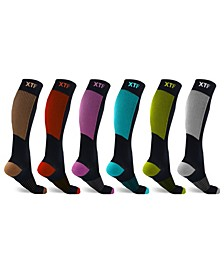 Men's and Women's Copper Compression Socks - 6 Pair