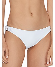 Juniors' Cali Solids O-Ring Bikini Bottoms