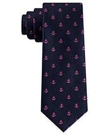 Men's Slim Anchor Silk Tie