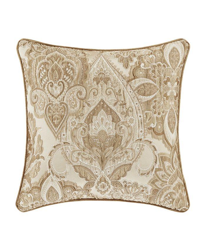 "J Queen New York - Sandstone 20"" Square Decorative Throw Pillow"