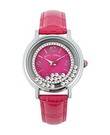 Women's Floating Stone Pink Polyurethane Strap Watch 38mm
