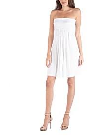Strapless Empire Waist Mini Dress