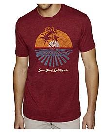 Men's Premium Word Art T-shirt - Cities in San Diego