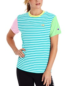 Women's Campus Striped Ringer T-Shirt