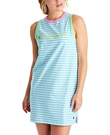 Campus Striped Tank Top Dress