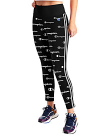 Champion Women's Double Dry Printed High-Rise Leggings