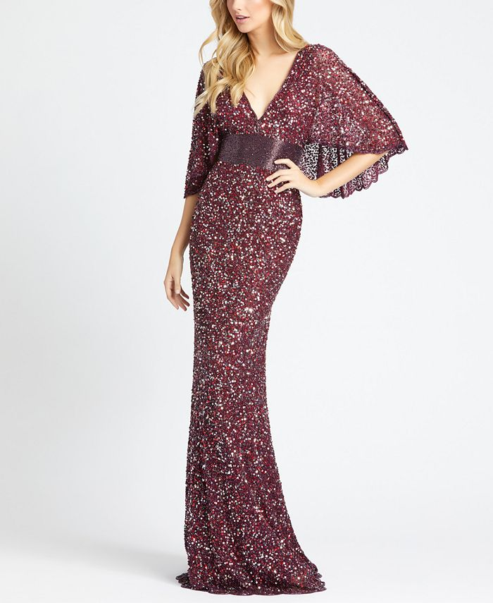 MAC DUGGAL - Embellished Capelet Gown