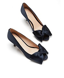 Crawford Peep-Toe Bow Pumps