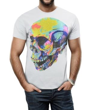 Men's Thermal Skull Graphic Printed Rhinestone Studded T-Shirt