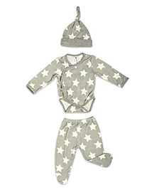 Baby Boys Bamboo 3 Piece Star Newborn Set