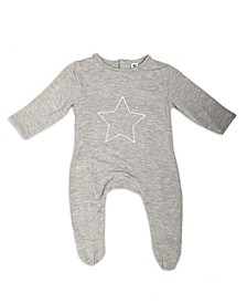 Baby Boys Bamboo Star Long Sleeve Back flap
