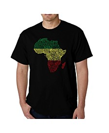 Men's Word Art - Countries in Africa T-Shirt