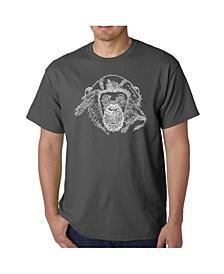 Men's Word Art - Chimpanzee T-Shirt