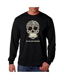 Men's Word Art - Dia De Los Muertos Long Sleeve T-Shirt
