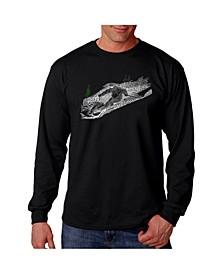 Men's Word Art - Ski Long Sleeve T-Shirt