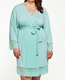 Women's Cotton Blend- Ultra Soft Lace Robe