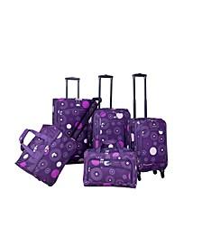 Fireworks 5 Piece Spinner Luggage Set
