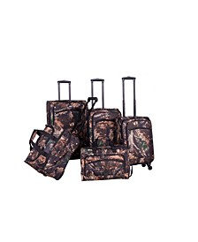 Camo Green 5 Piece Spinner Luggage Set