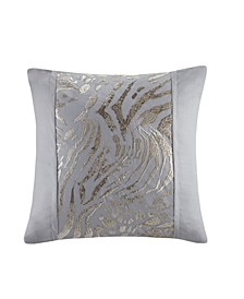 Dohwa Embroidered Square Decorative Pillow