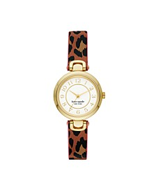Rainey Park Leopard-Print Reversible Watch, 30MM