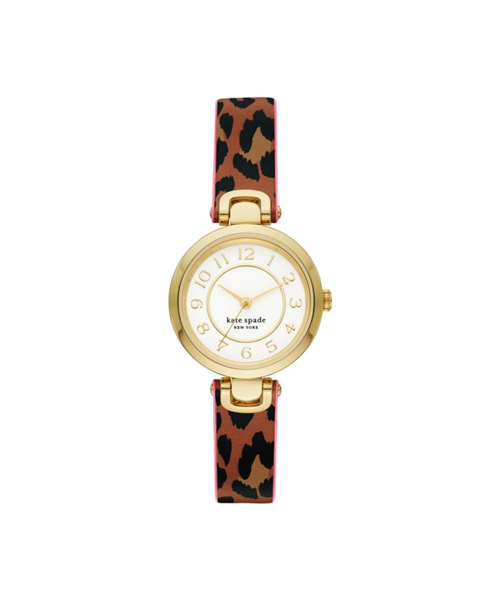 kate spade new york - Rainey Park Leopard-Print Reversible Watch, 30MM