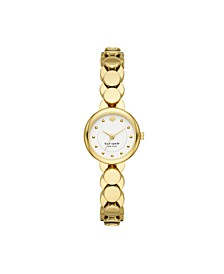 Monroe Gold-Tone Stainless Steel Bracelet Watch, 24MM