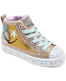 Little Girls Flip Kicks Twi-Lites 2.0 Smile Bright High Top Casual Sneakers from Finish Line
