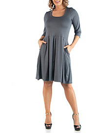Women's Plus Size Fit and Flare Dress