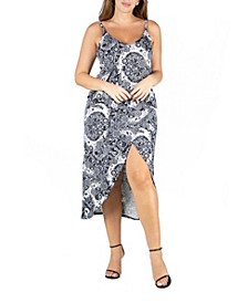 Women's Plus Size Spaghetti Strap Midi Wrap Dress