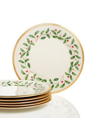 Holiday Salad Plates, Set of 6
