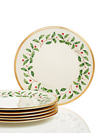 Lenox Holiday Set of 6 Salad Plates
