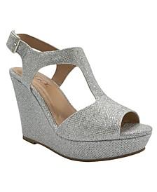 Women's Crystal Platform Wedge Sandals
