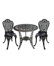 Bruce 3 Pieces Outdoor Cast Bistro Set
