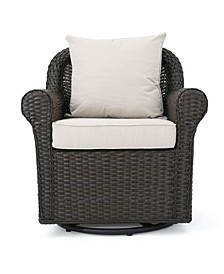 Amaya Outdoor Swivel Rocking Chair with Cushions