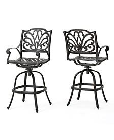 Alfresco Outdoor Cast Barstools, Set of 2