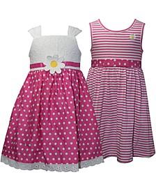 Baby Girls 2-Pack Pink & White Sundresses